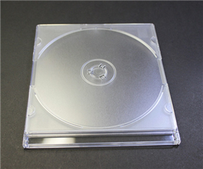 White Transparent DVD Shell